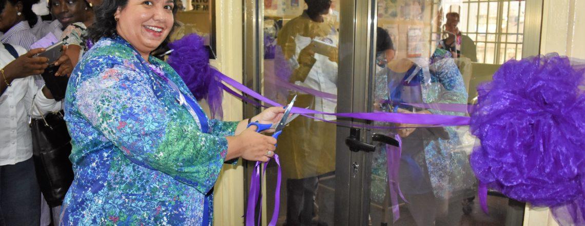 Ribbon cutting of the Skills Lab byUS Ambassador Maria Brewer