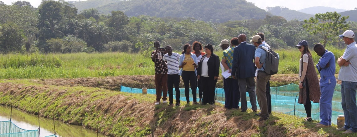Ambassador Brewer visited U.S.-government-supported projects