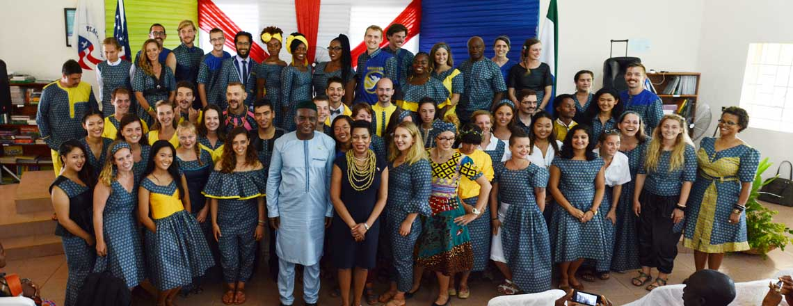 Chargé d'Affaires swears in 54 Peace Corps volunteers in Port Loko